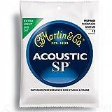 Martin SP Acoustic 12-String Set: Phosphor Bronze Guitar Strings Extra Light MSP4600 .010 - .047 (Tamaño: 1 PACK)