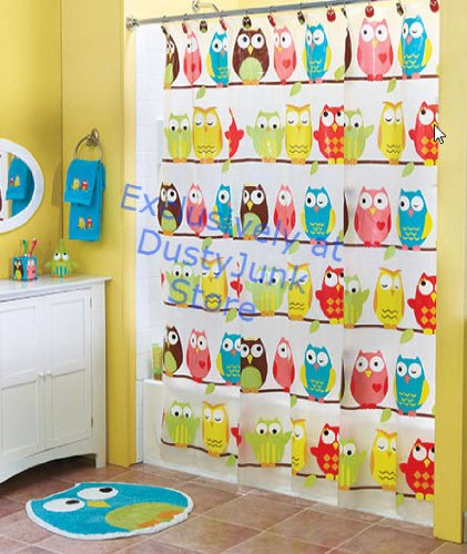 Cute Owl Bathroom Shower Curtain - Perched Owl