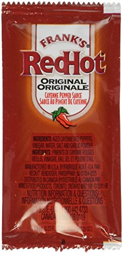 Frank's Red Hot Original Cayenne Pepper Sauce, 7-gram Pouch (Pack of 200) (Frank Hot Sauce compare prices)