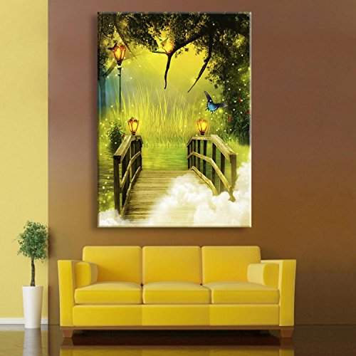 pequeno-puente-led-pintura-de-fibra-pintura-decorativa-pintura-sin-marco-sala-de-estar-dininng-habit