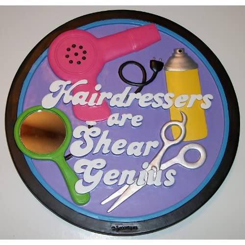 Amazon.com : Spoontiques Stepping Stone / Wall Plaque - Hairdresser