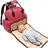 SKK BABY Waterproof Multifunctional Diaper Bags Backpack Organizer With Changing Pad For Baby Girls And Boys Large...