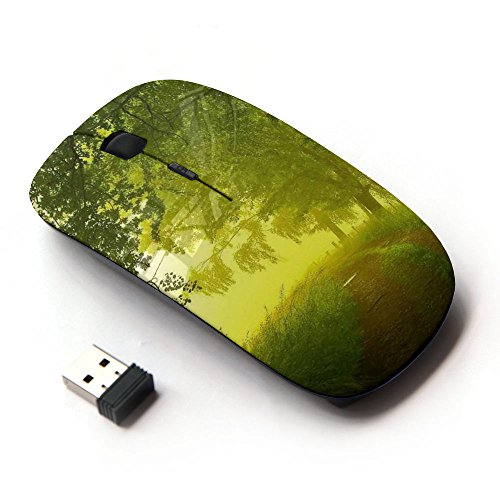 xp-tech-optical-24g-wireless-mouse-mice-for-pc-computer-laptop-nature-country-morning-path