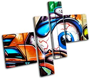 Amazon.com: Bold Bloc Design - Eye Urban Decay Graffiti - 120x100cm