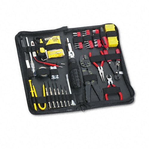 Fellowes Products - Fellowes - 55-Piece Computer Tool Kit in Black Vinyl Zipper Case - Sold As 1 Each - Designed to fit every need from basic maintenance to full-service repairs. - Unique 2-in-1 nut socket offers metric and standard measurement sizes. - N