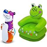Param Intex Inflatable PVC Frog Animal Chair With Intex Inflatable PVC Hit Me Tiger 3D BOP Bag