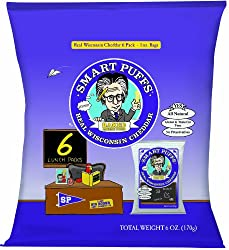Smart Puffs Multi Pack, Wisconsin Cheddar, 1.0 Ounce Bags (Pack of 72)