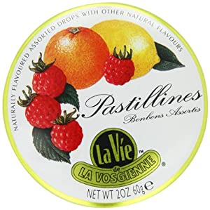 La Vie de La Vosgienne Pastillines Hard Candy, 2-Ounce Tins (Pack of 10)