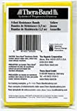 Thera-band 20520 Single Pack Latex Exercise Bands,Thin, Yellow, 5 Inch X 5.5 Inch
