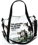 【D8】 ショルダー付き 2WAY マザーズバッグ 斜め掛け ママバッグ ネコ柄 ■MAMA-TOTE1■(catfoods)