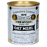 McCANN'S Steel Cut Irish Oatmeal, 28-Ounce Tins (Pack of 4)