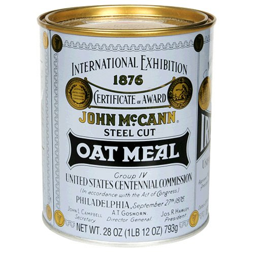 McCANN'S Steel Cut Irish Oatmeal, 28-Ounce Tins, Pack of 4