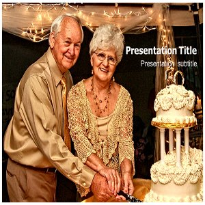 50th Wedding Anniversary (PPT) Powerpoint Template | 50th Wedding Anniversary Templates | Golden jubilee Anniversary Templates | Wedding Anniversary Template PowerPoint Templates