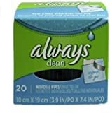ALWAYS Feminine Wipes Unscented 20 Count