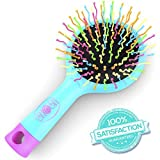 Detangling Hair Brush Detangle Hair Easily With No Pain Good For Wet Or Dry Hair Adults & Kids (Blue)