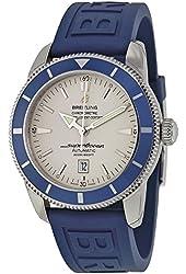 Breitling SuperOcean Automatic Stratus White Dial Blue Rubber Mens Watch A1732016-G642BLPT3