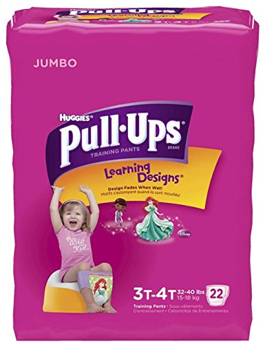 Huggies Pull-Ups Training Pants - Learning Designs - Girls - 3T-4T - 22 ct - 1