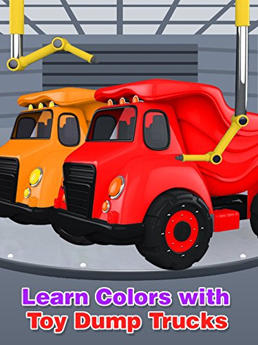 Learn Colors with Toy Dump Trucks