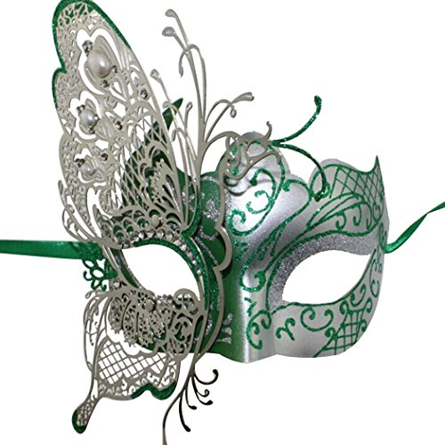 Coxeer® Princess Metal Venetian Dance Butterfly Mask for Halloween Ball Prom