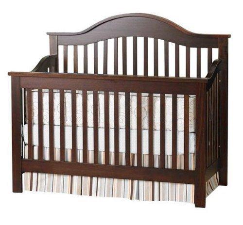 Espresso Sleigh Crib front-632285