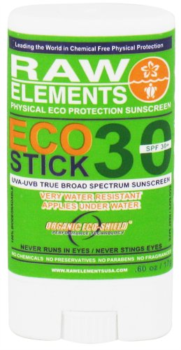Raw Elements Eco Formula Spf 30+ Sun Stick - 0.6 Oz, Pack Of 2