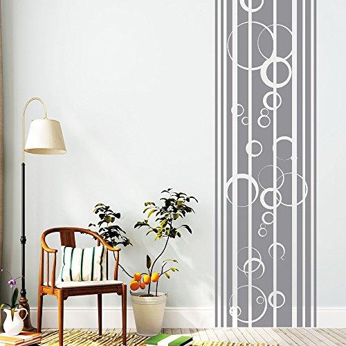 wandtattoo loft streifen bord re mit blubber blasen wandtattoo 54 farben 4 gr en grau. Black Bedroom Furniture Sets. Home Design Ideas