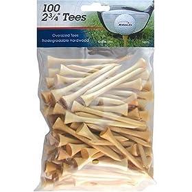 """INTECH Golf Tee 2-3/4"""" 100 Pack (Natural)"""