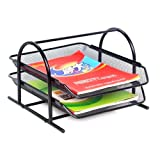M&G 2 TIER MESH DOCUMENT / PAPER TRAY ORGANIZER, Black