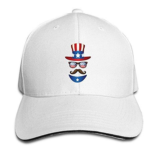 NJ Apparel USA Flag Independence Trucker Cap With Sandwich Peak White (Snow Peak Travel Mug compare prices)