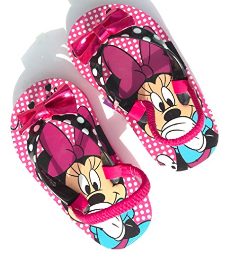 Disney Junior Girls' Minnie Mouse Pink Flip Flops (Toddler/Little Kid), L 9/10 (Inc Bow Flip Flops compare prices)