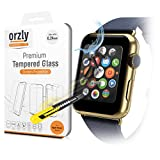 Orzly® - Premium Tempered Glass 0.24mm Protective Screen Guard for AppleWatch (38 mm Version) - Oleophopbic Screen Protector For APPLE WATCH (Fits all 38mm Versions of 2015 AppleWatch - BASIC / SPORT / EDITION Model)
