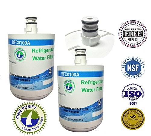 2 Pack - Onepurify Water Filter To Replace Lg, Kenmore, Sears, Lt500P, 5231Ja2002, 5231La2002A, 5231Ja2002A-S, 5231Ja2002B, 5231Ja2002B-S, 9890, Adq72910901, Adq72910902, Gen11042F-08, Gen11042Fr-08, Ps2487038, Sgf-La22, Eef-6005A, Wf-290, Wf290, Wsl-1. front-181735
