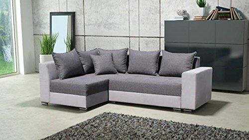 Polstermöbel Paco mit Staukasten und Bettfunktion – Abmessungen: 242 x 165 cm (L x B) - Ottomane: Rechts
