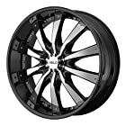 Helo HE875 Gloss Black Wheel with Chrome Accent Finish (24x9.5/5x120mm)