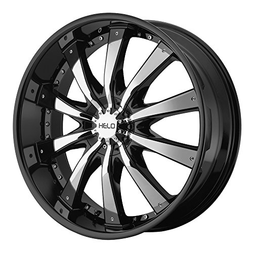 Helo HE875 Gloss Black Wheel With Removable Chrome Accents (20x8.5