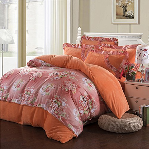 Coral Duvet Cover Queen front-1036884