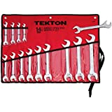 TEKTON 2008 Angle Open End Wrench Set, SAE, 14-Piece