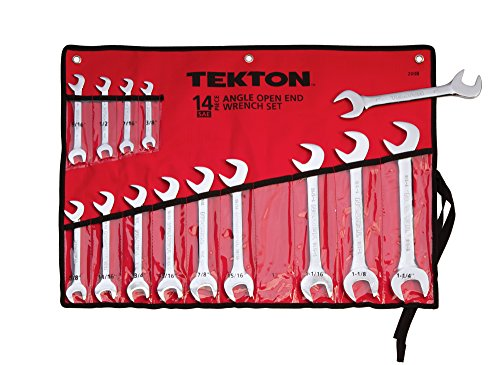 TEKTON 2008 Angle Open End Wrench Set, Inch, 3/8-Inch - 1-1/4-Inch, 14-Piece (Sae Angle Wrench compare prices)