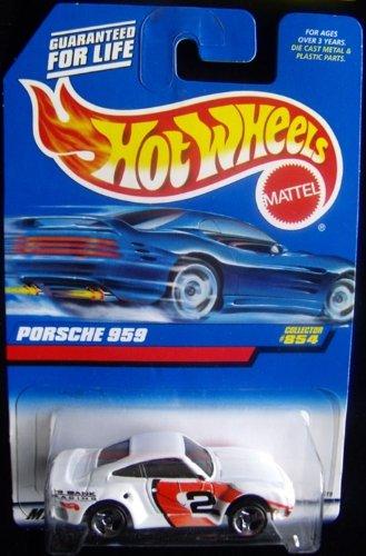 Mattel Hot Wheels 1998 1:64 Scale White Porsche 959 Die Cast Car Collector #854