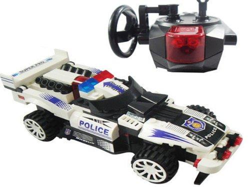 Brigamo302H – Track Turbo, RC Auto, Rennauto ferngesteuert, Bausteine, Ferngesteuertes Auto, inklusive Fernsteuerung, Polizeiauto, Polizei günstig