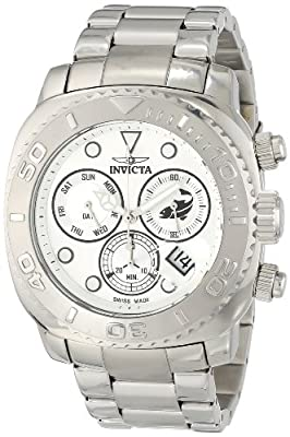 Invicta Men's 14646 Pro Diver Analog Display Swiss Quartz Silver Watch