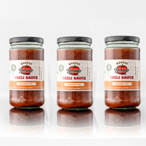 [Rustic Tomato Homemade 100% Natural Chili Sauce - 12 oz (Habanero Heat, 3-pack)] (Kikkoman Sauce Costume)