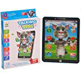 3D Learning 10 Inches Tablet Pad With Talking Tom With 12 Smart Touch Features (Base Color May Vary)