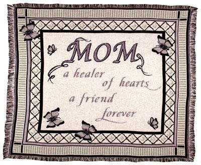"""Mom"" Friend Forever Mother'S Day Afghan Throw Blanket 50"" X 60"" front-1026067"