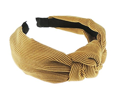 frauen-madchen-cord-drapierung-top-knoten-kopfband-alice-band-gr-einheitsgrosse-gold