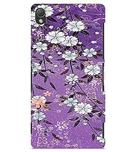 PrintVisa Flower Pattern 3D Hard Polycarbonate Designer Back Case Cover for Sony Xperia Z3