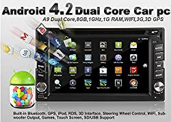 See Free camera 2 Din Capacitive In Dash Car DVD Player Android 4.2 With Bluetooth GPS Navigation RDS WiFi STereo Radio vehicle DVD player Details