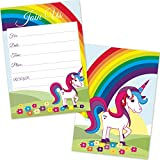 Kids-Rainbow-Unicorn-Birthday-Invitations-for-Girls-20-Count-with-Envelopes