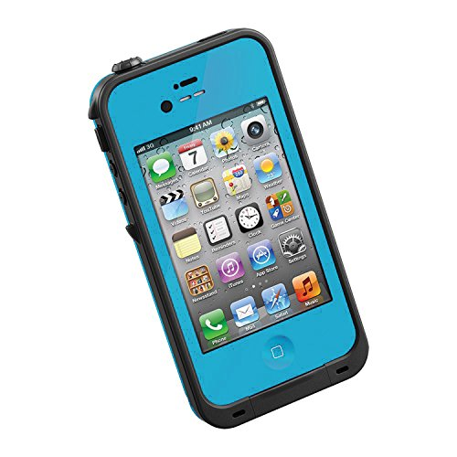 New Waterproof Shockproof Dirtproof Snowproof Protection Case Cover for Apple Iphone 4 4S Light Blue (Iphone 4s Energy Case compare prices)
