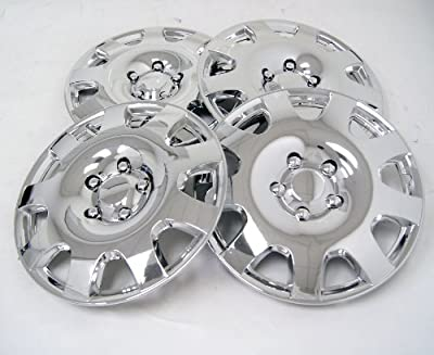 TuningPros WSC-502C16 Chrome Hubcaps Wheel Skin Cover 16-Inches Silver Set of 4